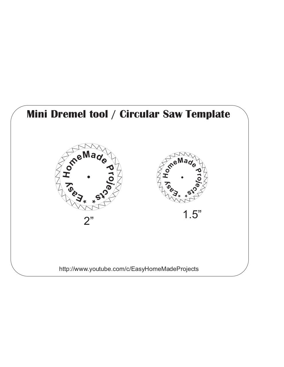 Document preview Circular Saw blade template.pdf - page 1/1