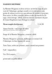 menu du jour salon