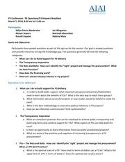 p3 conf questions