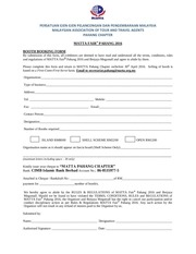 PDF Document booking form mfp 2016