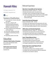 PDF Document resume columns