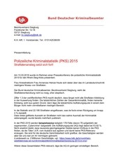 pressemitteilung zur pks 2015