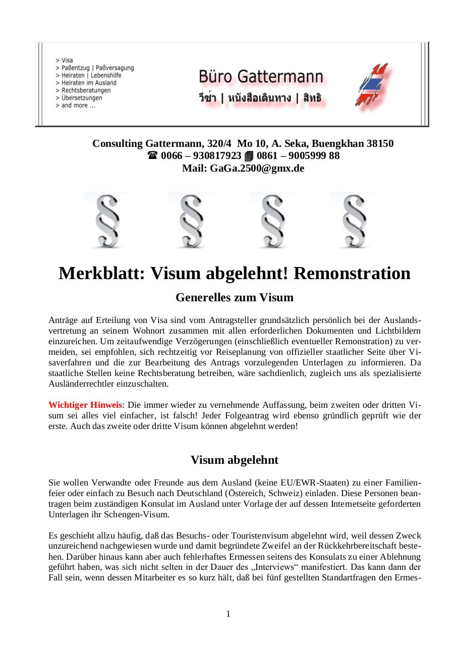 Document preview Visum abgelehnt! Remonstration.pdf - page 1/3