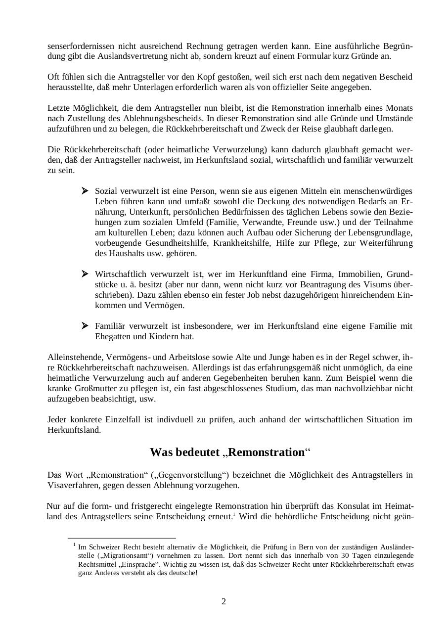 Document preview Visum abgelehnt! Remonstration.pdf - page 2/3