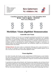 PDF Document visum abgelehnt remonstration