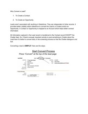 PDF Document converting a lead instructions