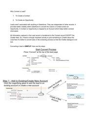PDF Document converting a lead