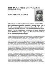 PDF Document the doctrine of fascismmussolini
