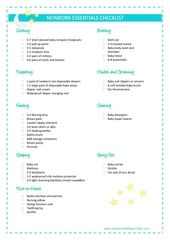PDF Document newborn essentials checklist
