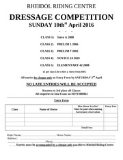 dressage 10th april 2016