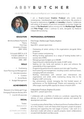 abby butcher cv