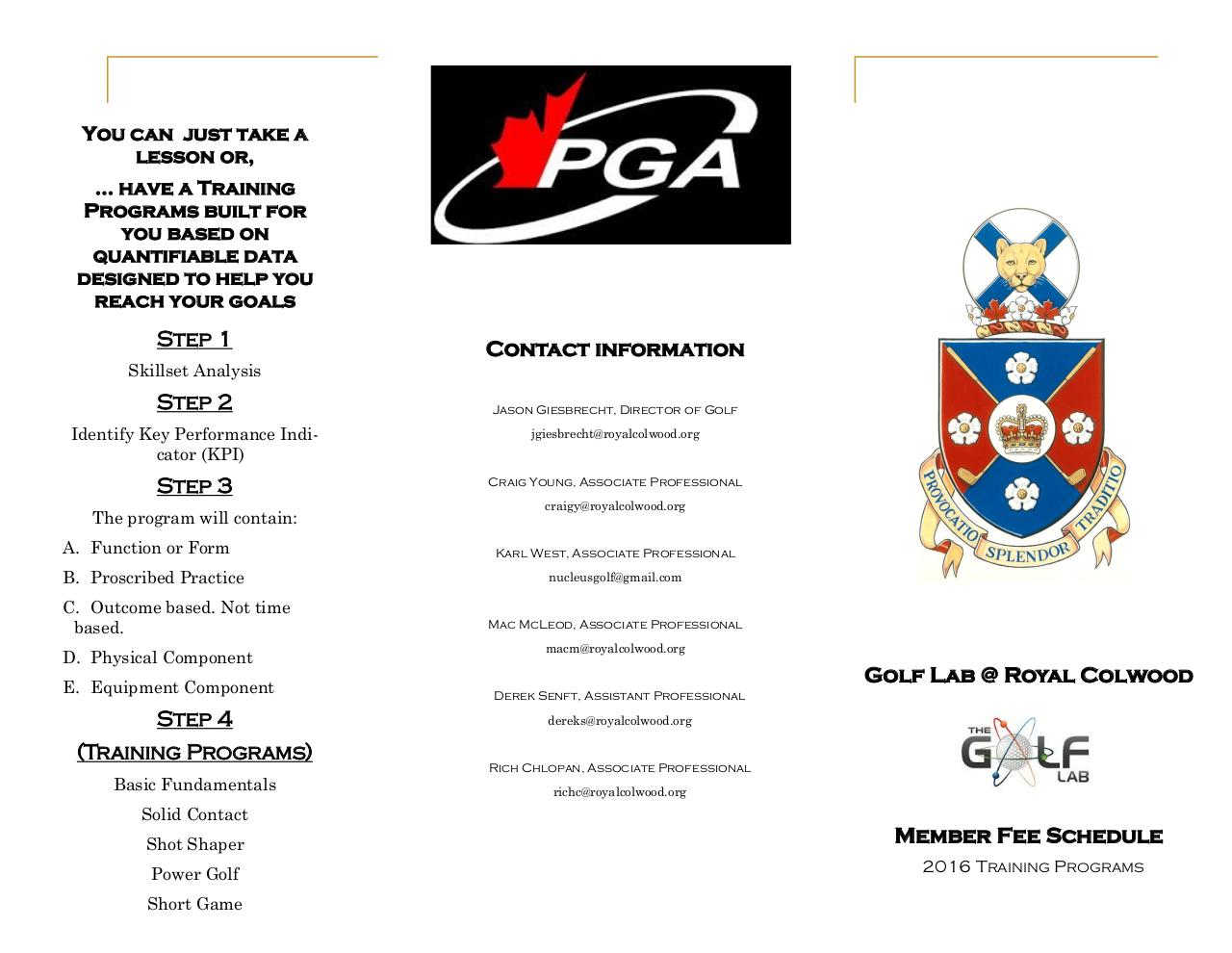 Document preview 2016 Golf Lab Training Program Brochure.pdf - page 1/2