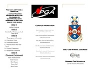 2016 golf lab training program brochure