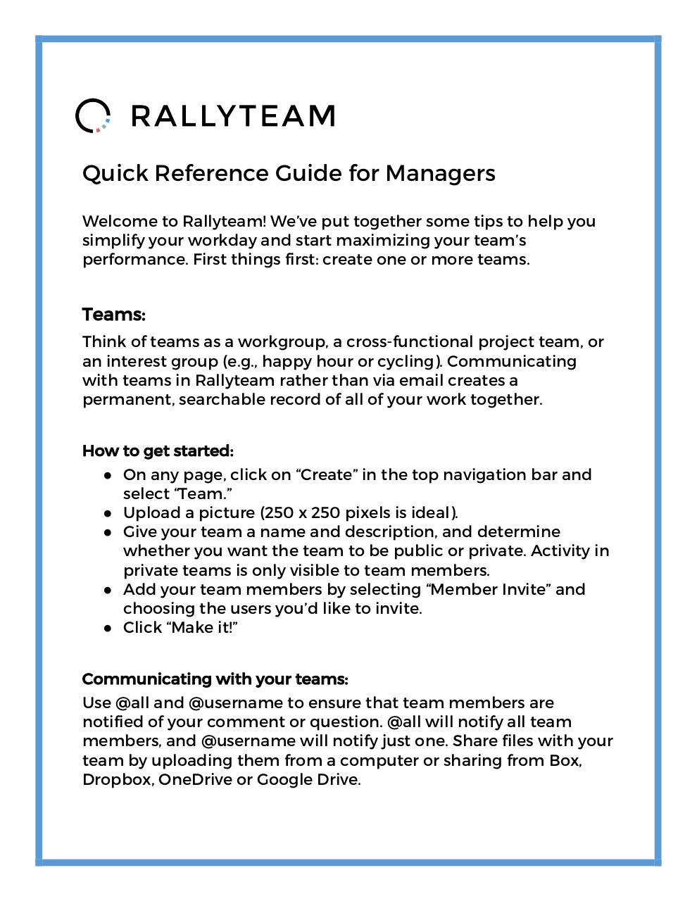 Document preview ManagerRallyteamQuickReferenceGuide_v4.pdf - page 1/3