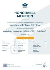 web fundamentals html css certificate