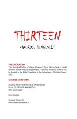 thirteen the book english maurice hennevelt