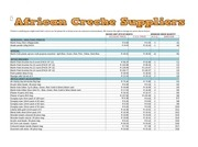 african creche suppliers price list new