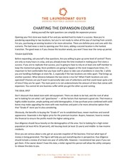 charting the expansion course