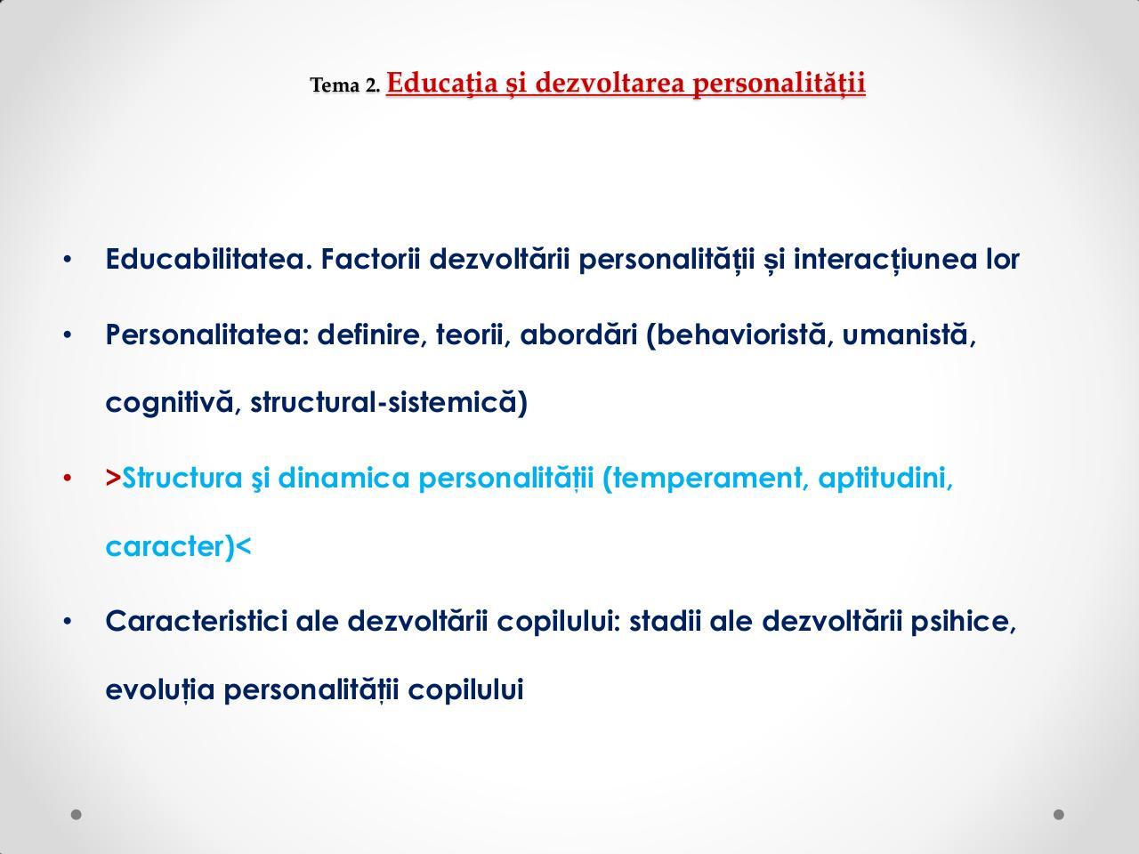 Structura personalitatii