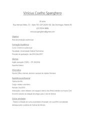 PDF Document curr culo vin cius coelho spanghero
