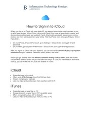 PDF Document how to sign into icloud