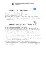 make a backup using icloud and itunes