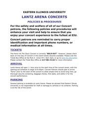 ub concerts patrons policies procedures lantz arena