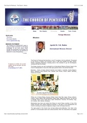 missions the church of pentecost history