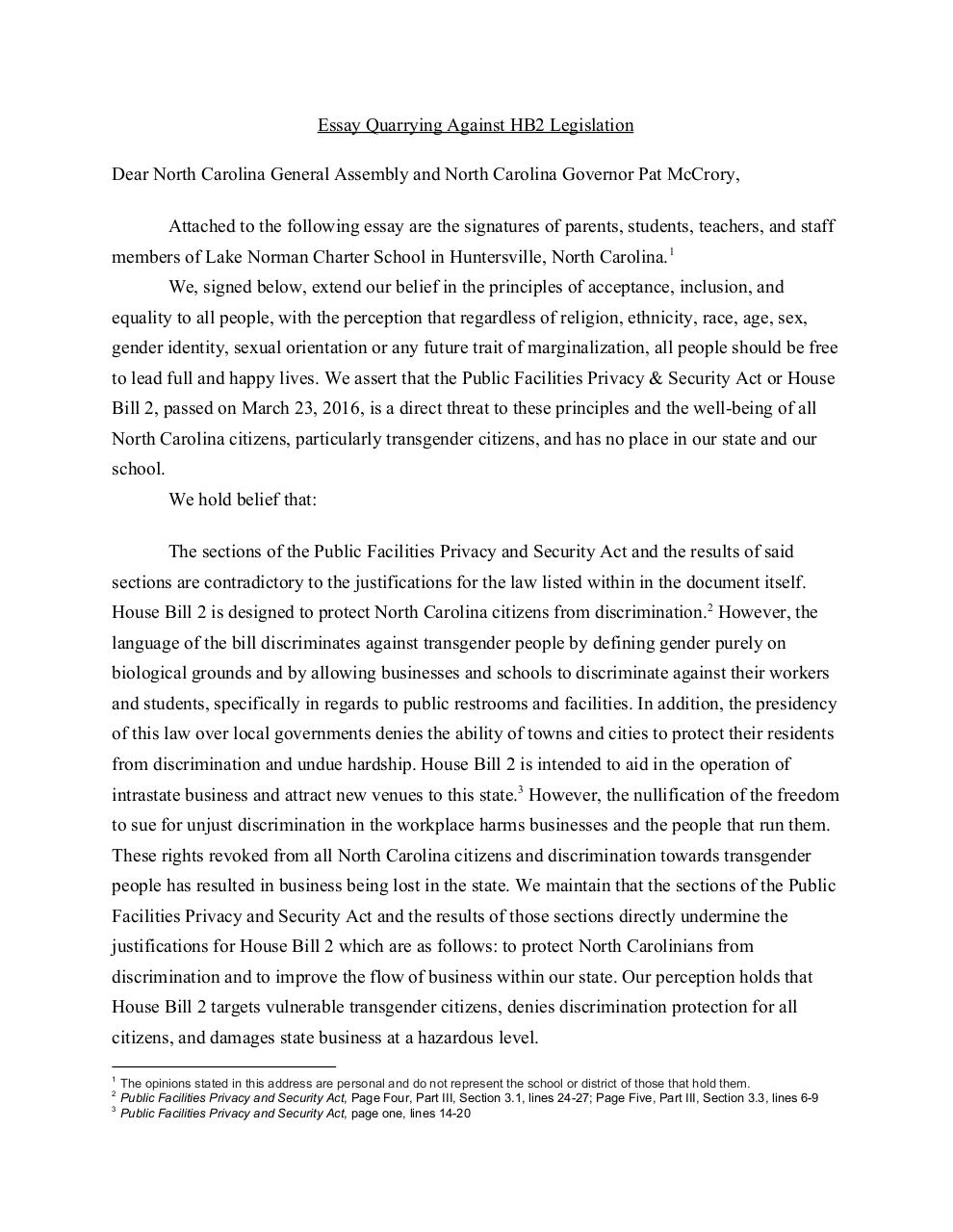 Document preview EssayQuarryingAgainstHB2Legislation.pdf - page 1/3