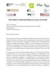 letter to oas secretary general luis almagro