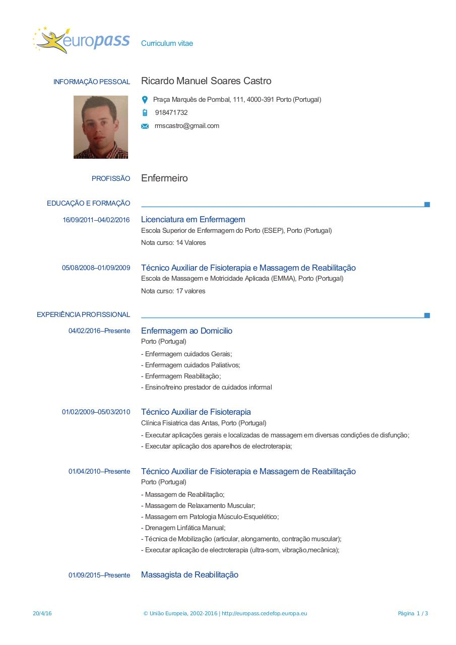 Document preview CV-Europass-20160420-SoaresCastro-PT (1).pdf - page 1/3