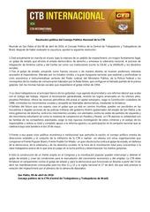 PDF Document resoluci n pol tica del consejo pol tico de la ctb