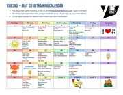 may 2016 vibe training calendar