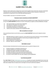 PDF Document sales assistent made by creative label