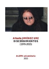 discernimientos por alberto jimEnez ure 2015