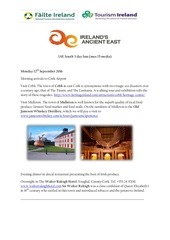 ireland s ancient east itinerary september 12 14 2016