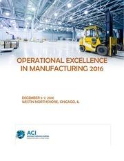 operational excellence summit program draft