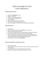 intercollege fest rules regulations