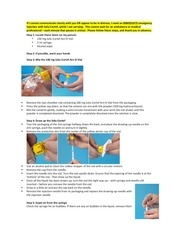 emergency injection with solu cortef template