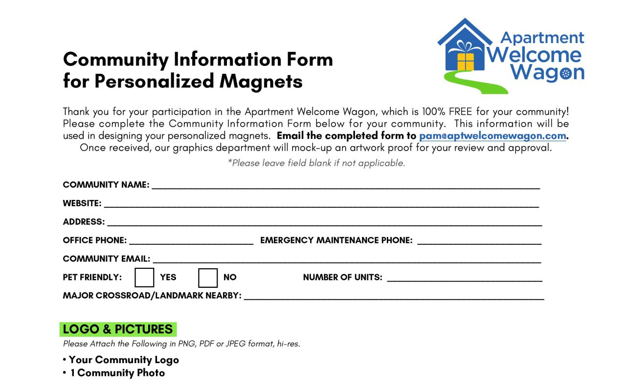 Document preview Community Info Form.pdf - page 1/1