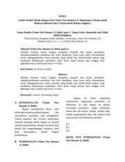 template jurnal kembara