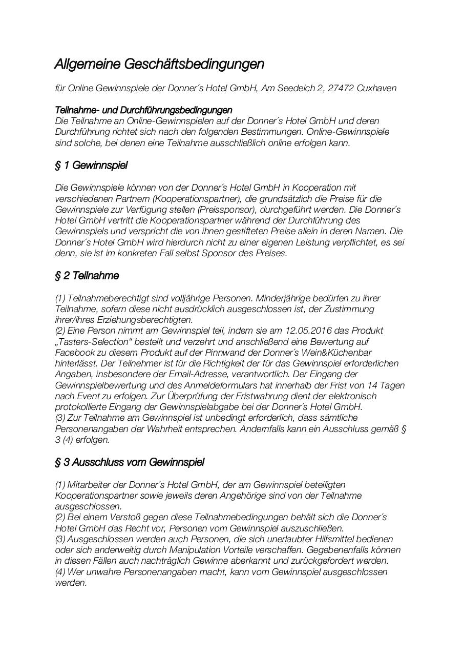 Document preview AGBs Gewinnspiele.pdf - page 1/3