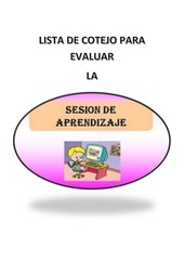 lista de cotejo para evaluar la sesion de aprendizaje