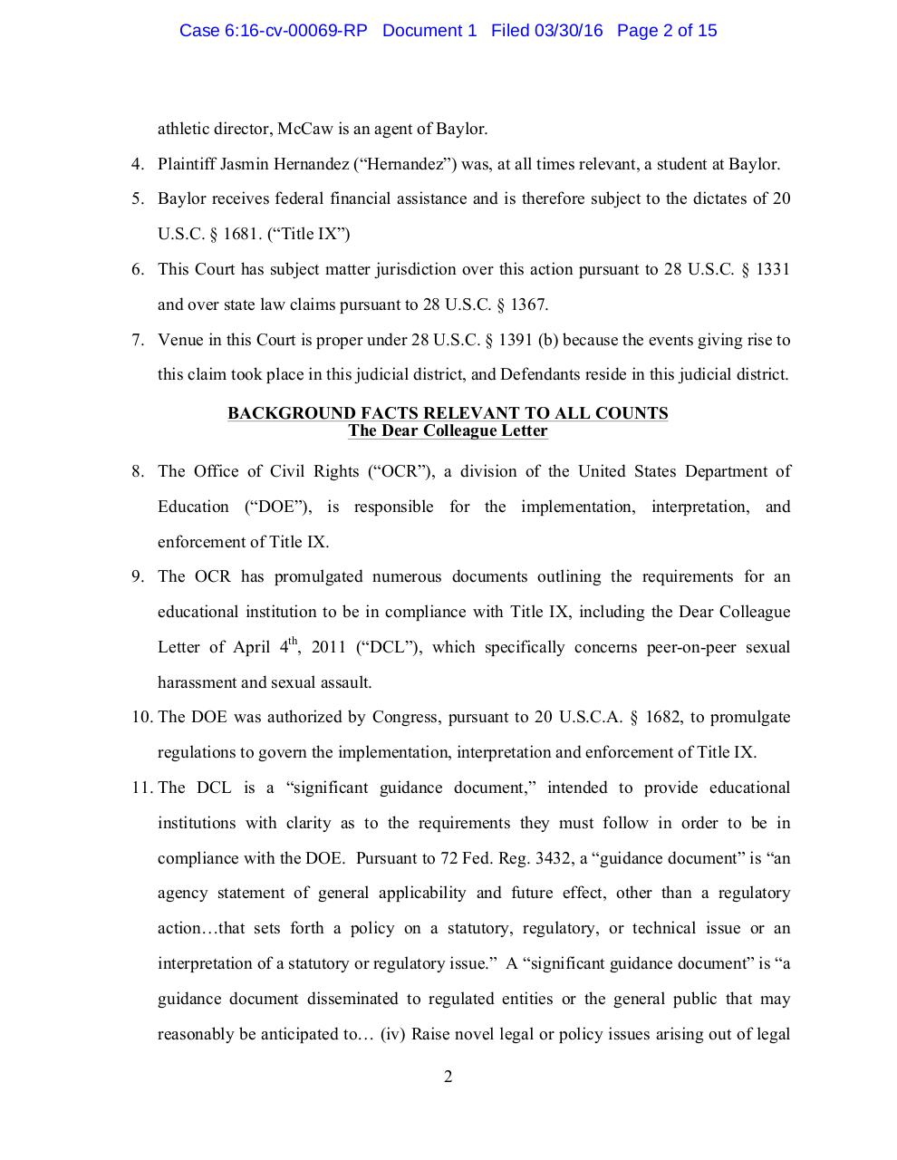 Baylor Lawsuit.pdf - page 2/16
