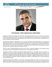 10 paul chehade make lobbying also lobby illegal