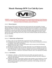 mmdfw bylaws