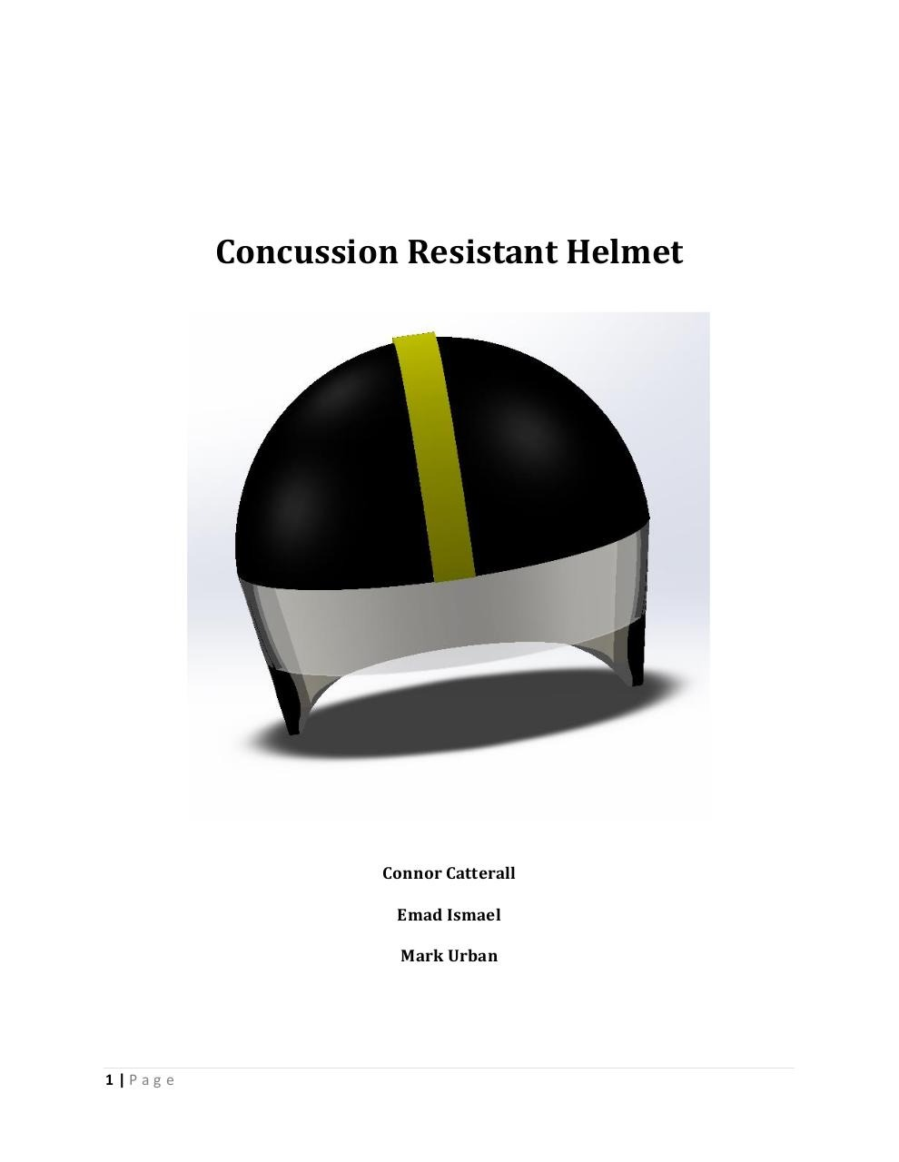Sports Engineering - Concussion Resistant Helmet.pdf - page 1/14