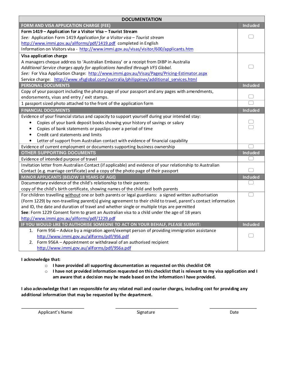 Microsoft word updated 600 tourist stream checklist 24 for Documents checklist visa 600