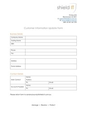 PDF Document customer information update form pdf