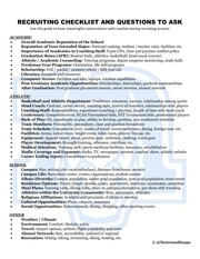 high school recruiting checklist